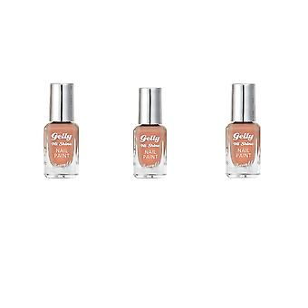 Barry M 3 X Barry M Gelly Hi Shine Nail Polish - Nutmeg
