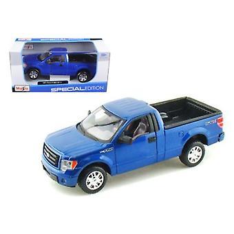 2010 Ford F-150 STX Pickup Truck Azul 1/27 Modelo de fundición a presión por Maisto