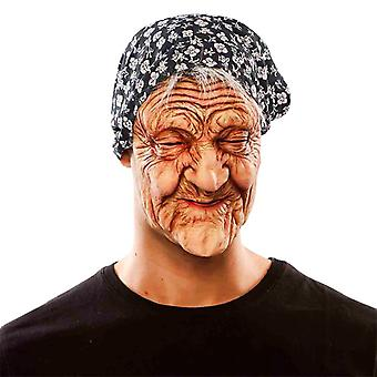 Witch Granny after old woman mask Lady costume