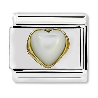 Nomination Classic Mother of Pearl Heart Link Charm 030501/12