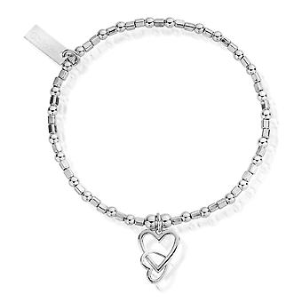 ChloBo SBCFB572 Women's المتشابكة سوار القلب الحب