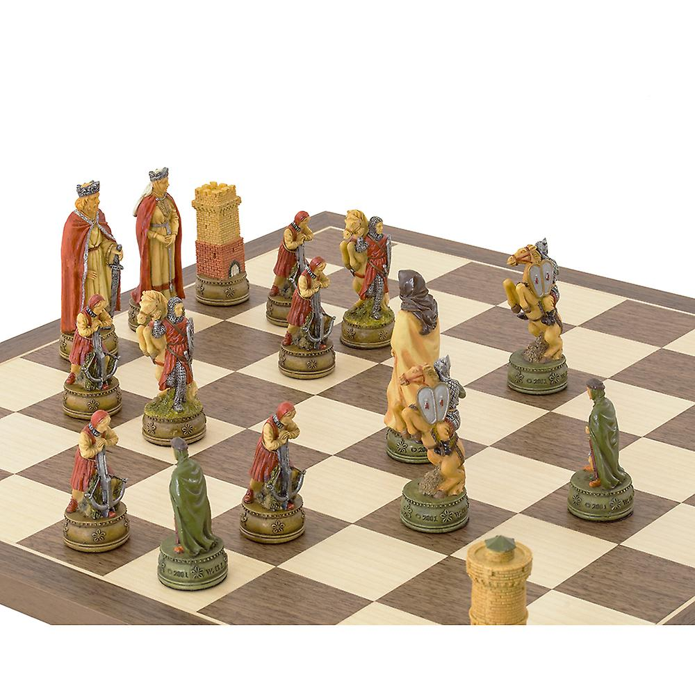 The Camelot Hand painted themed Chess set by Italfama
