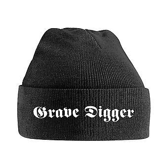 Grave Digger Beanie Hat Band Logo nouveau noir officiel