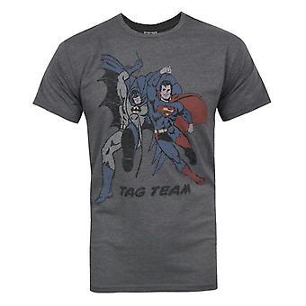 Junk Food Batman Superman Tag Team Men's T-Shirt