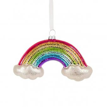 Sass and Belle Glass Rainbow Christmas Decoration