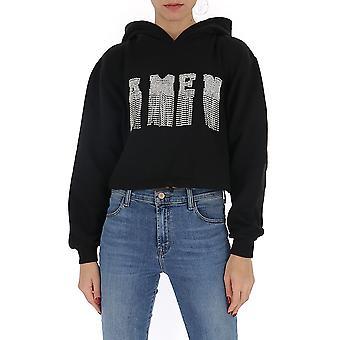 Amen Ams20224009 Femmes-apos;s Sweatshirt en coton noir