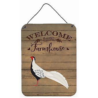 Silver Pheasant Welcome Wall or Door Hanging Prints