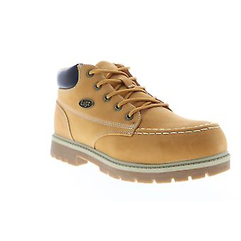 Lugz Loot Slip Resistant  Mens Brown Nubuck Leather Chukkas Boots