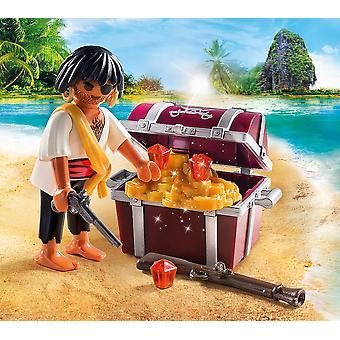 Playmobil 9358 Special Plus pirata con la cassa del tesoro