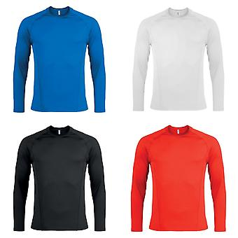 Kariban Proact Mens Long Sleeve Quick Dry Base Layer Sports Top