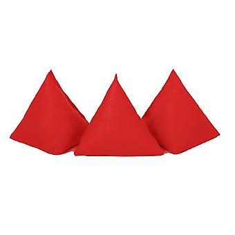 Gardenista� | Pack of 5 | Durable Cotton Fabric | Triangular Shaped | Juggling Throw Bean Bags | Garden Games | PE and Sports | Indoors and Outdoors | Red