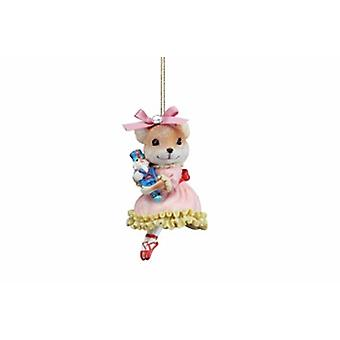 Gisela Graham Resin Ballerina Mouse Decoration