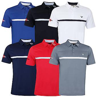 Callaway Golf Mens 2020 New Odyssey Tour Stretch Moisture Wicking Polo Shirt