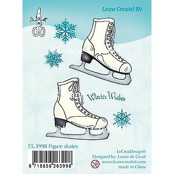 LeCrea Clear Stamp - Figure Skates