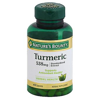 Nature's bounty kurkuma, 538 mg, capsules, 45 ea