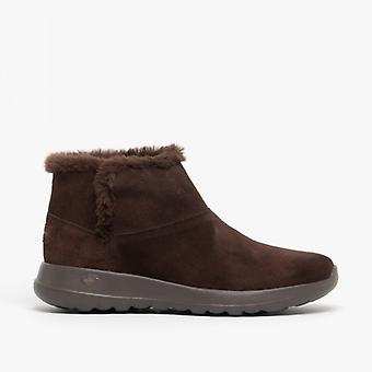 Skechers On-the-go Joy Bundle Up Ladies Ankle Boots Chocolate