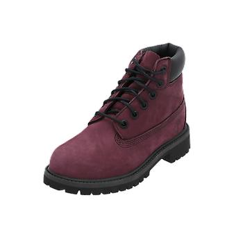 Timberland 6 In Premium WP Boot Kids Boots Red Lace Boots Winter