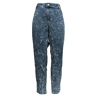 Laurie Felt Women's Jeans Silky Denim Acid Wash Ankle Pull-On Blue A301683