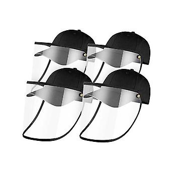4X Outdoor Hut Anti Nebel Staub Speichel Cap Face Shield Cover Adult Schwarz