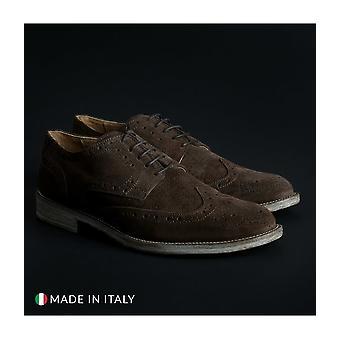 SB 3012 - shoes - lace-up shoes - 208_CAMOSCIO-B_MARRONE - men - saddlebrown - EU 44