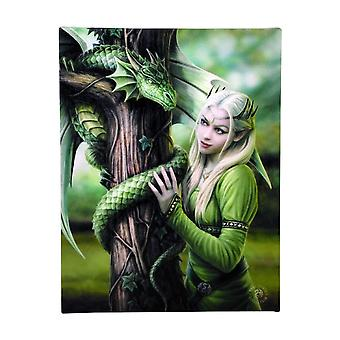 Anne Stokes Kindred Spirits Canvas Plaque