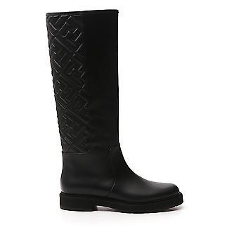 Fendi 8u8036ac7yf0abb Women's Black Leather Boots