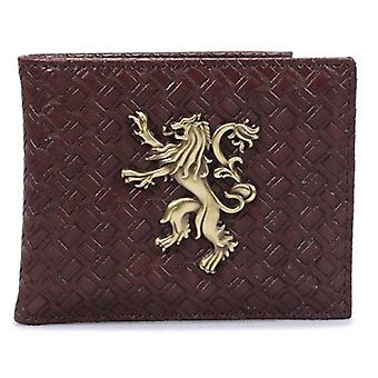 Game Of Thrones Wallet House Lannister Emblem new Official Brown Bifold