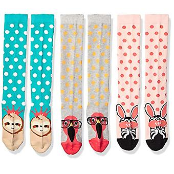 Brand - Spotted Zebra Kids' 4-Pack Knee Socks, Safari Animals, X-Small...