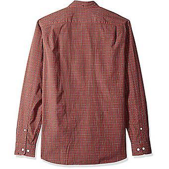 Goodthreads الرجال & apos;ق القياسية تناسب طويلة الأكمام منقوشة بوبلين قميص, الاختيار الصدأ, XX ...