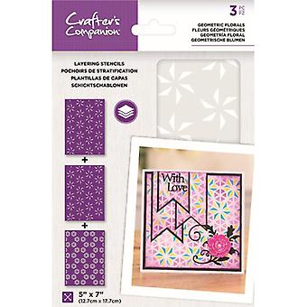 Crafter's Companion Geometric Florals Layering Kaleidoscope Stencils
