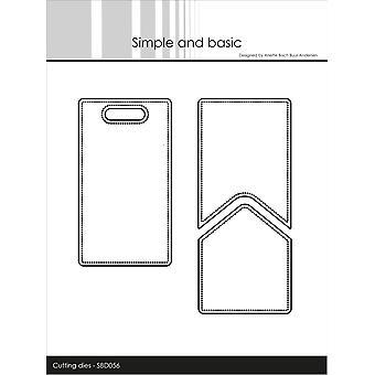 Enkel och grundläggande Tagg med Pocket Add-On Dies