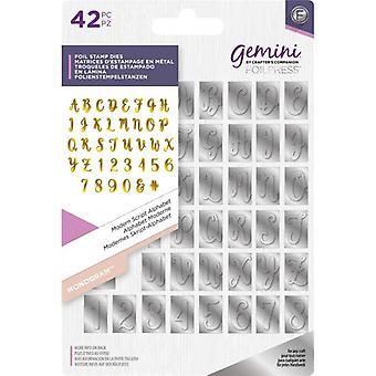 Gemini Modern Script Alphabet Monogram Foil Stamp