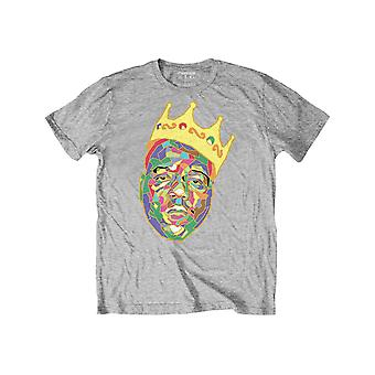 Biggie Smalls Kids T Shirt Crown Logo new Official Heather Grey Ages 3-14yrs