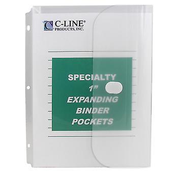 33747, Bolsillo Binder biodegradable, Claro, 10/PK, 33747