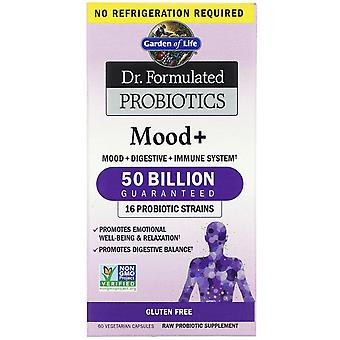 Garden of Life, Dr. Formulated Probiotics, Mood+, 60 Vegetarian Capsules