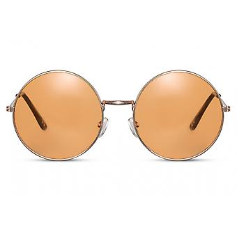 Sunglasses Unisex all around full-edgecated cat. 3 gold/orange