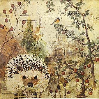 Ambiente 3 Ply Paper Napkins, Autumn Hedgehog