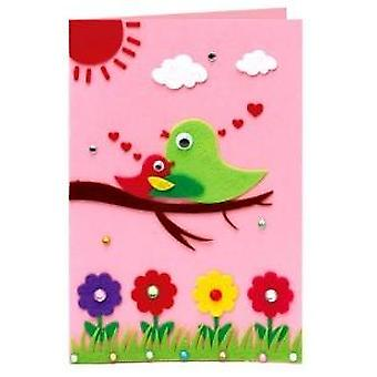 Diy Handmade Greeting Cards-non-woven Material Craft