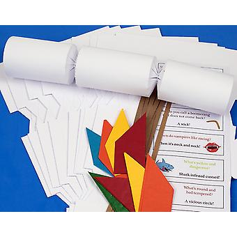 100 White Basic Make & Fill Your Own Recyclable Christmas Cracker Kit