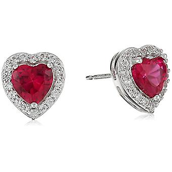 Sterling Silver Created Ruby and Created White Sapphire, Yellow, Size No Size
