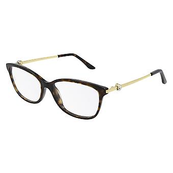Cartier CT0257O 005 Havana-Gold Glasses