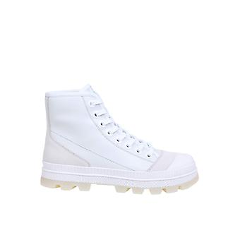 Jimmy Choo Nordmnlybianco Mænd's Hvid Læder Hi Top Sneakers