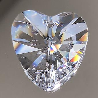 45mm Heart Shape Crystal Prisms For Diy Chandelier Hanging, Pendant,