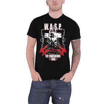 WASP W.A.S.P. T Shirt Crimson Idol Tour Band Logo new Official Mens Black