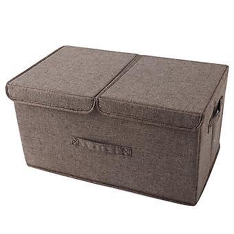 YANGFAN Double Cover Folding Washable Storage Box