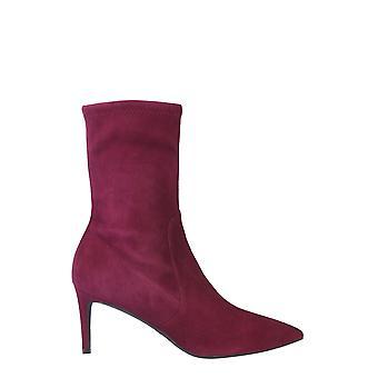 Stuart Weitzman Wren75suestrcranberry Femmes-apos;s Burgundy Suede Ankle Boots
