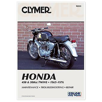 Clymer M333 Manual for Honda 450 & 500CC Twins 65-76