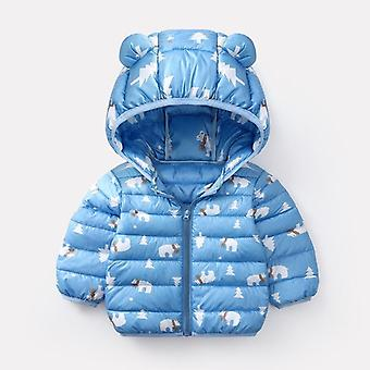 Baby Girls Hooded Down Jackets For Kids Coats Autumn Boys Cartoon Warm Jacket Toddler Girl Zipper Outerwear