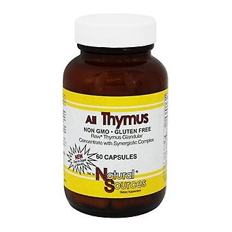 Natural Sources All Thymus, 60 Caps