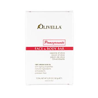 Olivella Bar Soap, Pomegranate Fragrance 5.29 oz